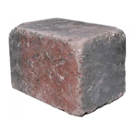 Slået Kantblok 14x21x14cm RødMix-31