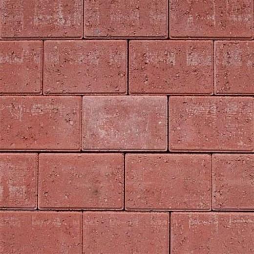 Faset Holmegårdssten 14x21x6cm Rød-31
