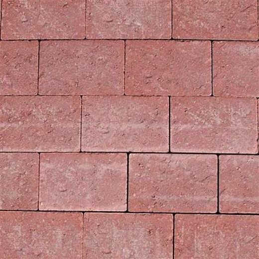 Holmegårdssten 14x21x6cm med skiferpræg Rød-31