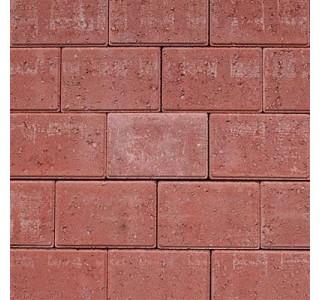 Faset Holmegårdssten 14x21x6cm Rød-20