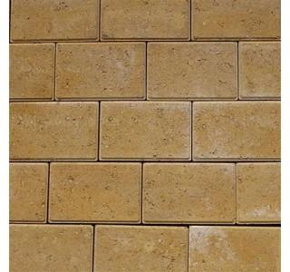Faset Holmegårdssten 14x21x6cm Gul-20
