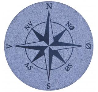 Kompasrose Ø72cm Grå-20