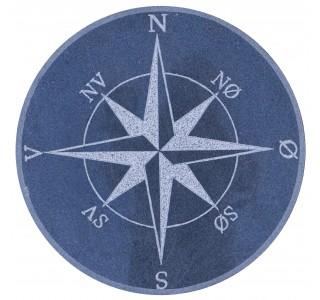 Kompasrose72cmBlanksort-20